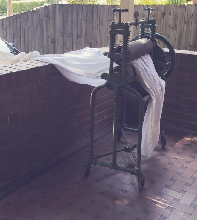 The old mangle on the front verandah
